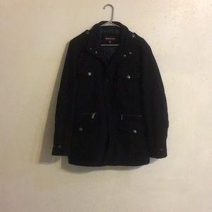 Michael Kors Men's Black Wool-Blend Field Coat